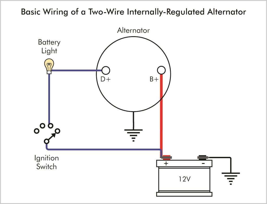 troubleshooting an alternator warning light bmw car club of america if the alternator has two wires a fat b wire from the battery and a small blue d exciter wire the wiring of the warning light looks like this